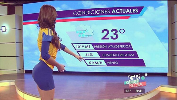 The World's Most Beautiful Weather Girl