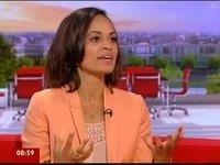 Teshome Mitiku's daughter Emilia Mitiku on BBC Breakfast