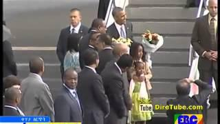 Obama Arrives at Bole Int. Airport Addis Ababa, Ethiopia - July 26, 2015