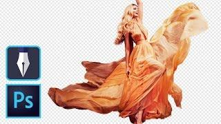 Cut Out a Flowing Dress With the Pen Tool – Photoshop Tutorial    Educational