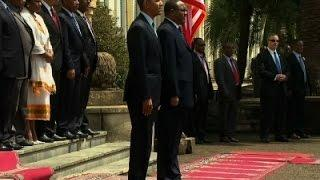Raw: Ethiopia Welcomes President Obama | Ethiopia