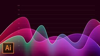 How to Create Metrics Line Graph Analytics Vector Artwork in Illustrator | Educational