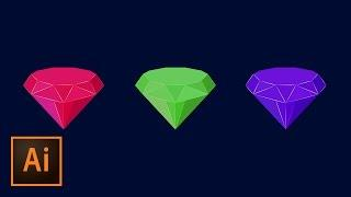 Create Flat Diamond Icon Illustrator Tutorial