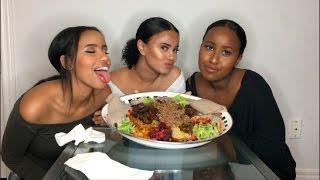 ETHIOPIAN FOOD MUKBANG | GIRL CHAT | Food