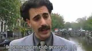 Borat walks in Amsterdam | Comedy