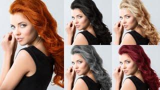How to Change Hair Color (Dark/Brunette to other colors) Photoshop Tutorial