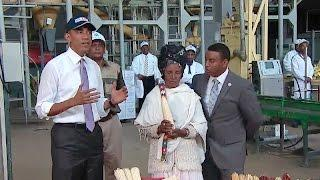 The President Tours the Faffa Food Factory in Ethiopia