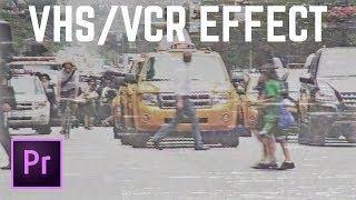 VHS Retro Camcorder Effect Premiere Pro Tutorial | EDucational
