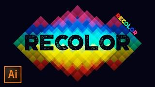 How to Use Recolor Artwork in Adobe Illustrator | Educational