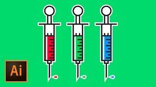 Draw a Syringe Emoji Illustration Tutorial | Educational