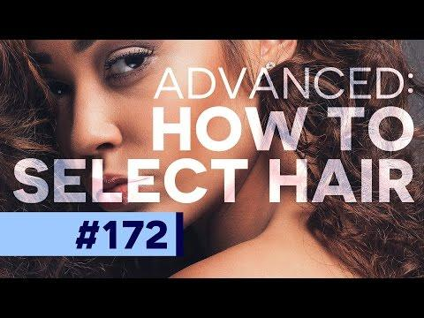 Advanced Tutorial: How to Select Difficult Hair in Photoshop CC | Educational