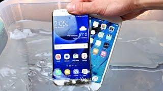 Samsung Galaxy S7 vs iPhone 6S Water Test! Actually Waterproof? | Technology