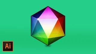 Create a Polygon Geometric Gemstone in Illustrator CC | Educational
