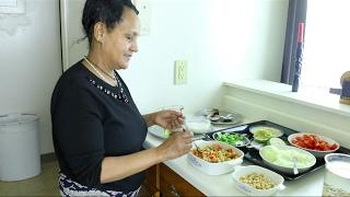 "Ethiopian Cooking "" How to Make Shinbira Dube Salad and Nifro  
