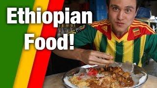 Irresistible Ethiopian Food - Tasty Meat Platter!