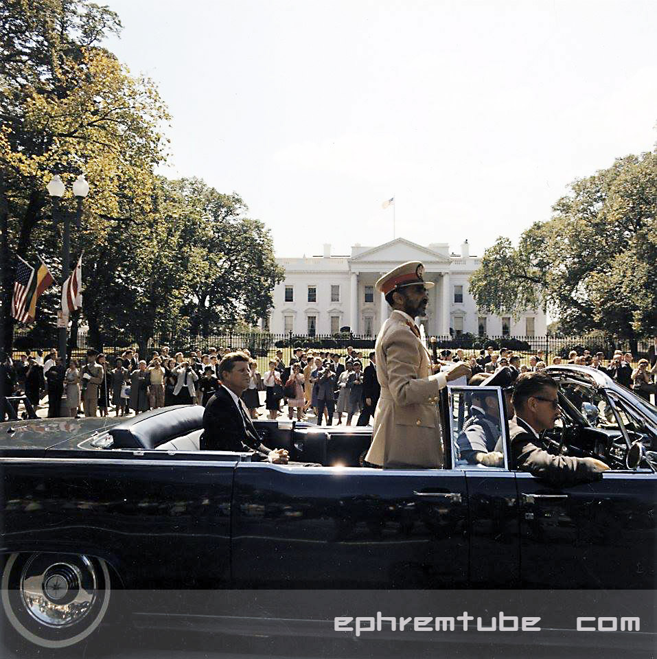 King Haile Silassie in usa 1963