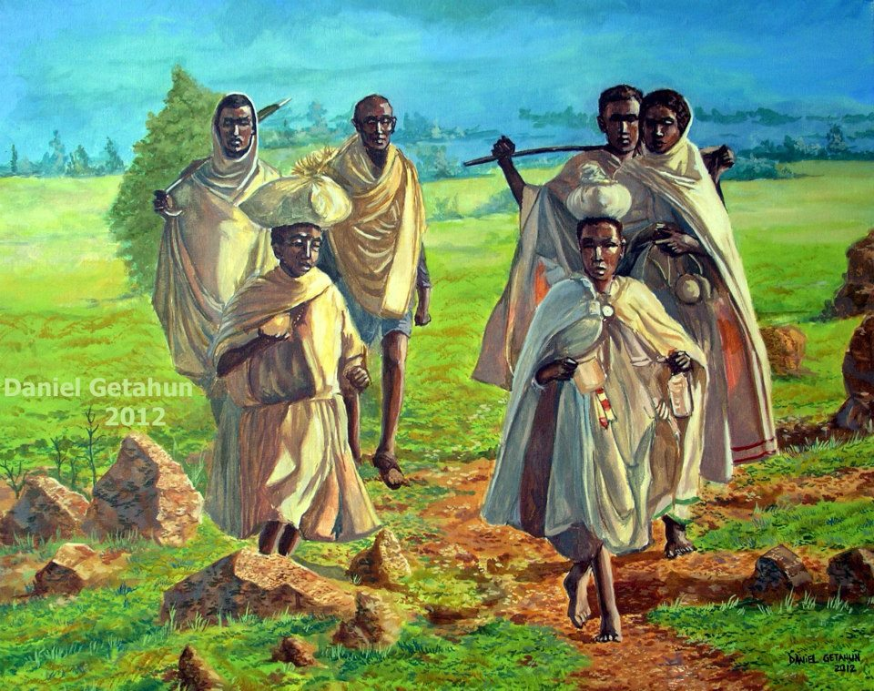People are going to the market-Art