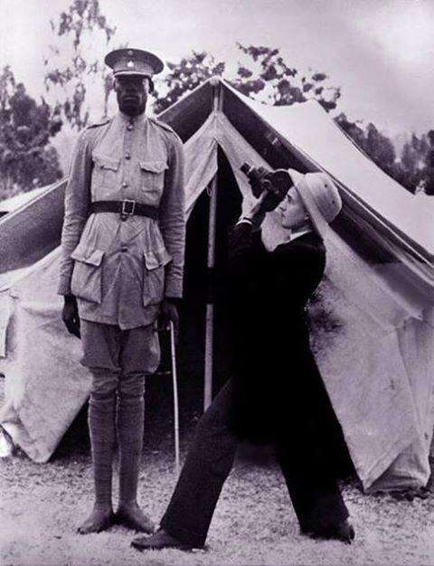The first Ethiopian traffic police in 1945