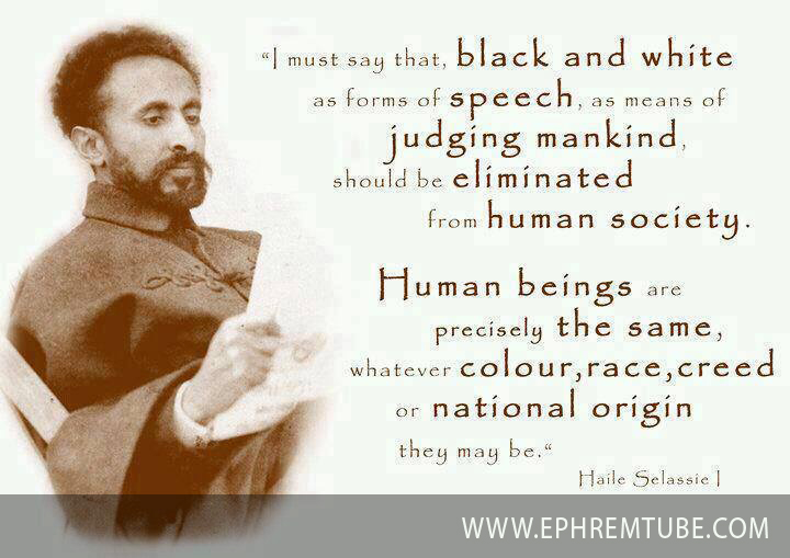 Haile Silassie's speech