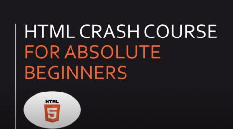 HTML Crash Course For Beginners